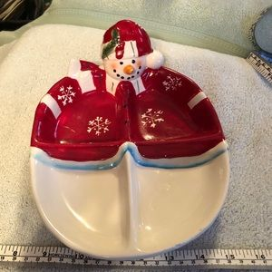 Snowman candy dish
